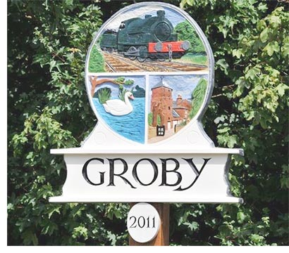 Groby District Picture Sign