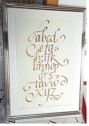 An example of italic calligraphy