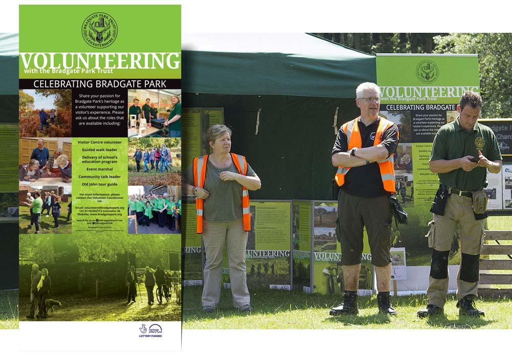 Volunteering tent at the Celebrate Bradgate day