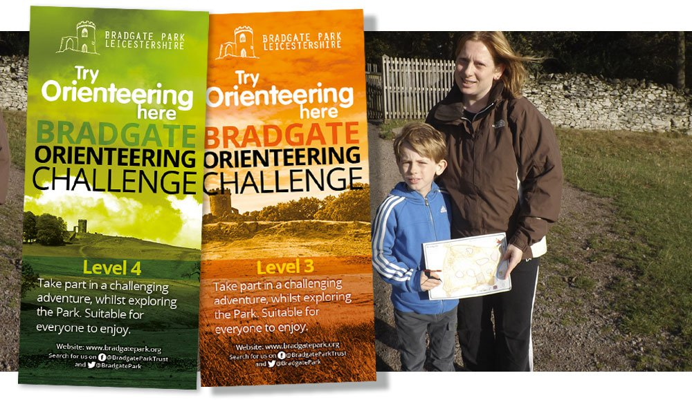 Orienteering Mother and Son and Leaflets for Orienteering