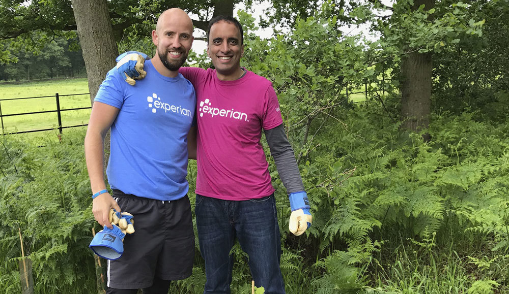 Get involved like these two Volunteers from Experian