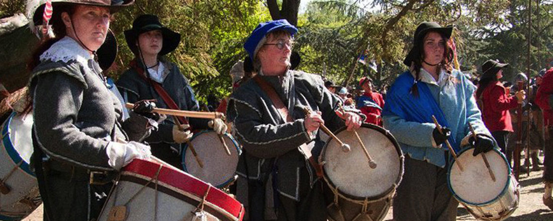 Living History Drummers in Period costume