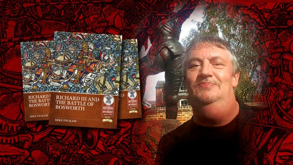 Mike Ingram with his new book about Richard III