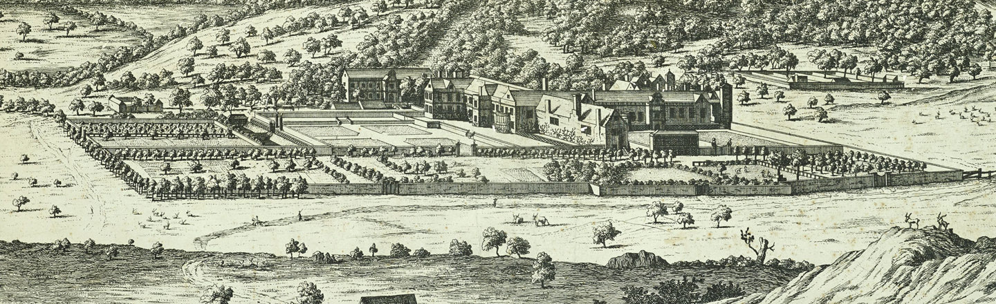 Etching of Bradgate House