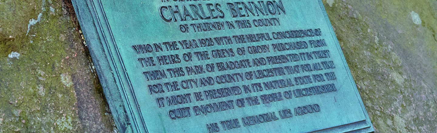 Charles Bennion Remeberance Plaque
