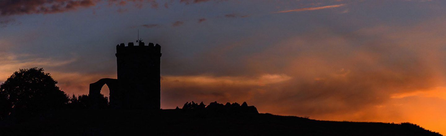 Old John Tower at Sunset